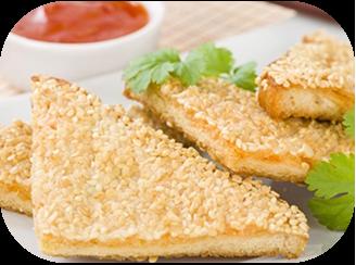 14. Prawn Toast with Dip (8)